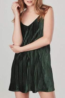 BB Dakota Green Velvet Dress