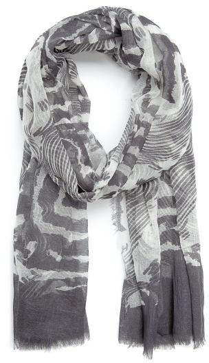 MANGO TOUCH - Printed cotton foulard