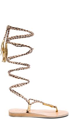 LSPACE Gili Long Wrap Sandal $149 thestylecure.com