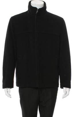 Andrew Marc Wool Zip-Up Jacket