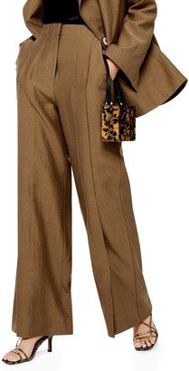 Topshop Raw Hem Wide Leg Trousers