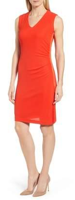 BOSS Erela Ruched Sheath Dress
