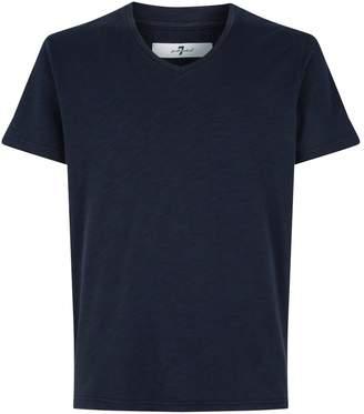 7 For All Mankind Cotton Raw Hem T-Shirt