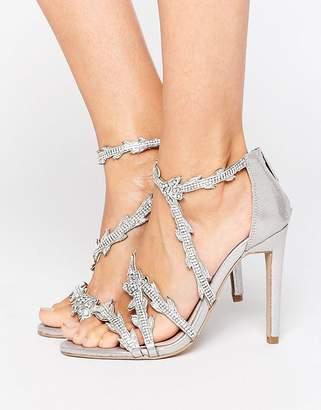Carvela Goa Silver Embellished Heeled Sandals