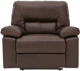 Very Newberg Premium Leather Manual Recliner Armchair