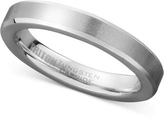 Triton Men's White Tungsten Carbide Ring, Wedding Band (3mm)