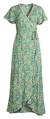 Poupette St Barth Women's Joe Ruffled Floral Maxi Dress