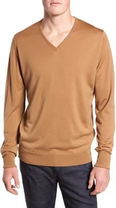 John Smedley 'Bobby' Easy Fit V Neck Wool Sweater