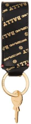 Bally Goldtone Logo Leather Key Holder