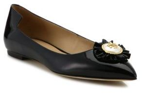 Tory Burch Melody Patent Leather Point Toe Flats $265 thestylecure.com