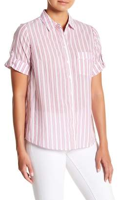 Always & Forever Striped Button Down Blouse