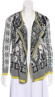 Etro Printed Open Front Cardigan