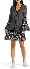Jonathan Simkhai WOMEN'S CHECKED CHIFFON TIERED DRESS