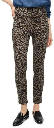 J.Crew Highest Rise Toothpick Jeans in Leopard