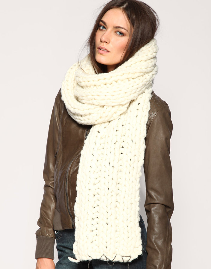 Diesel Chunky Hand Knit Scarf