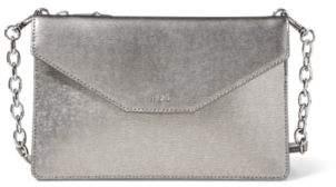 Ralph Lauren Saffiano Erika Crossbody Bag Antique Silver One Size