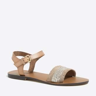 J.Crew Factory Raffia ankle-strap sandals