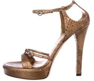 Gucci Python Platform Sandals