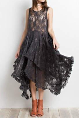 Easel Sleeveless Lace Dress