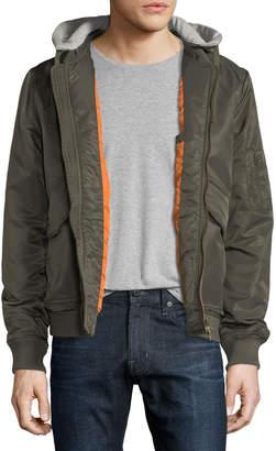 Jachs Ny Hooded Bomber Puffer Jacket