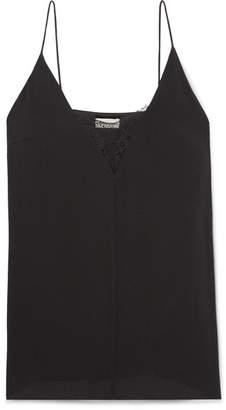 By Malene Birger Jozette Lace-trimmed Crepe Camisole - Black