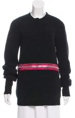 Christopher Kane Zip-Accented Cable-Knit Sweater