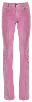 Gucci - Mid Rise Flared Stretch Cotton Corduroy Trousers - Womens - Pink