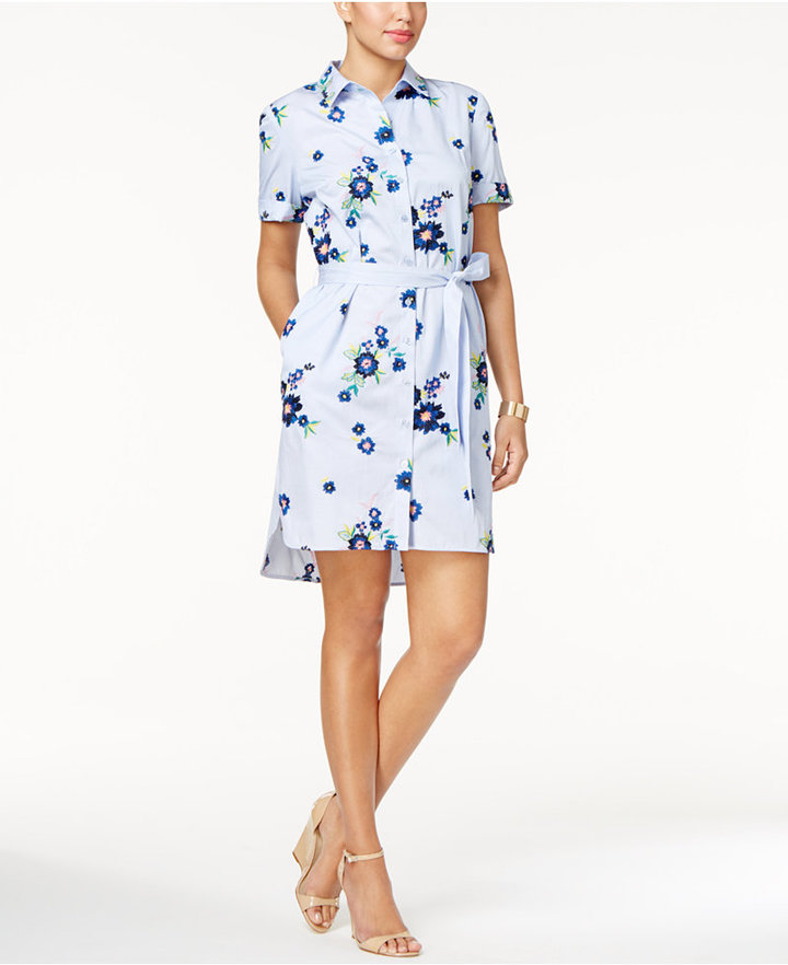 ECI Embroidered Shirtdress