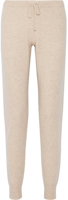 Madeleine Thompson - Bagby Cashmere Track Pants - Beige $335 thestylecure.com