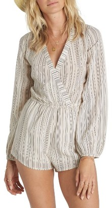 Women's Billabong Coastal Break Stripe Surplice Romper $59.95 thestylecure.com