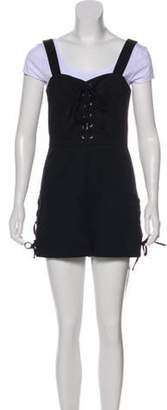 Intermix Lace-up Sleeveless Romper w/ Tags Black Lace-up Sleeveless Romper w/ Tags