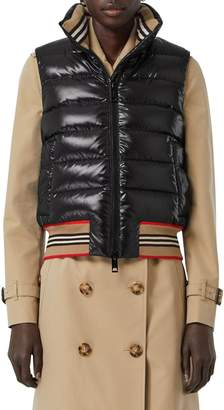 Burberry TB LOGO QUILTED NYLON VEST