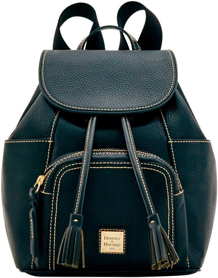 Dooney & Bourke Pebble Grain Medium Murphy Backpack - BLACK BLACK - STYLE