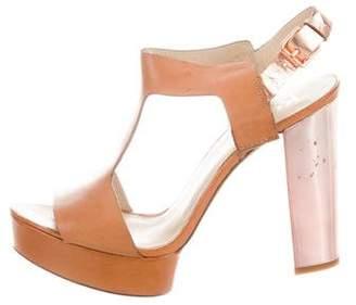 KORS Platform Leather Sandals