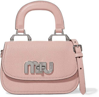 Miu Miu Mini Textured-leather Shoulder Bag - Antique rose 2a18be50ab1dd
