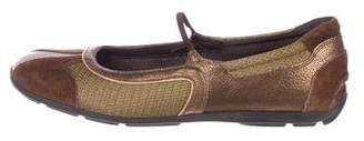 Prada Sport Leather Mary Jane Flats