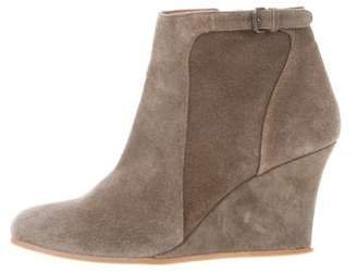 Lanvin Suede Wedge Booties