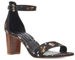 Nine West Pruce Floral Ankle Strap Sandals