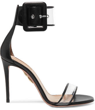 Aquazzura Seduction Pvc And Leather Sandals - Black