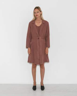 Raquel Allegra Terracotta Short Trench Coat