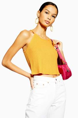 Topshop Knitted Halter Neck Top