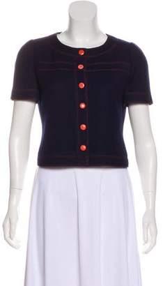 Courreges Short Sleeve Button-Up Jacket