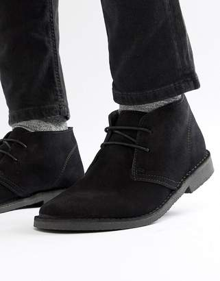 Next Suede Desert Boot In Black