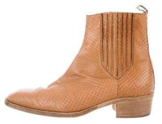 Bottega Veneta Python Ankle Boots
