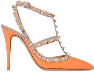 100mm Rockstud Patent Leather Pumps $995 thestylecure.com
