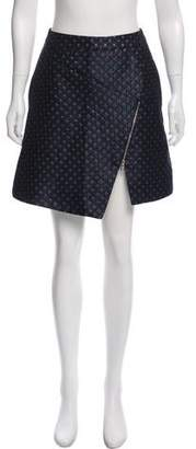 Markus Lupfer Patterned Mini Skirt