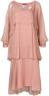 Alberta Ferretti layered asymmetric hem dress