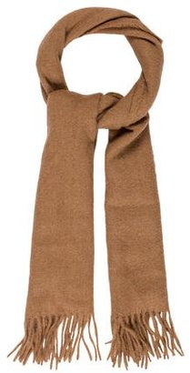 Paul Smith Camel Hair Fringed Scarf $75 thestylecure.com