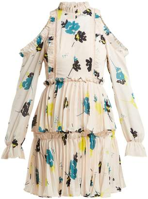 Self-Portrait Floral-print pleated dress