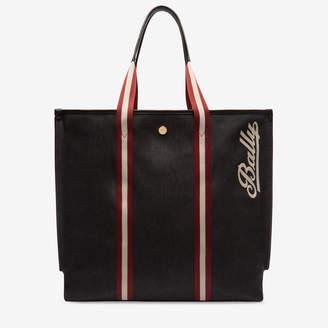 Bally (バリー) - ウィメンズ ブラック コットンキャンバス トートバッグ